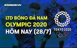 Lịch thi đấu bóng đá nam Olympic 2020 hôm nay 28/7/2021