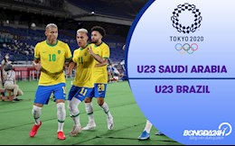 Video bóng đá: Saudi Arabia 1-3 Brazil (Vòng bảng Bóng đá nam Olympic 2020)