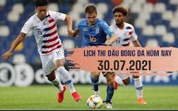 Lịch thi đấu bóng đá hôm nay 30/7: BD nữ Olympic; Gold Cup vòng bán kết