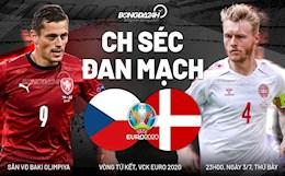 """Nhận định CH Séc vs Đan Mạch (23h00 ngày 3/7): """"Lính chì"""" đá bay rào cản"""