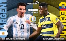 Nhận định, soi kèo dự đoán Argentina vs Ecuador 8h00 ngày 4/7 (Copa America 2021)