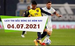 Lịch thi đấu bóng đá hôm nay 4/7/2021: Argentina vs Ecuador; Uruguay vs Colombia
