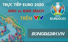 Trực tiếp bóng đá Euro 2021 bán kết Anh vs Đan Mạch hôm nay 8/7