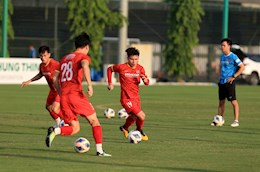 Quang Hai was suddenly absent from the practice match between Vietnam and the U22 team