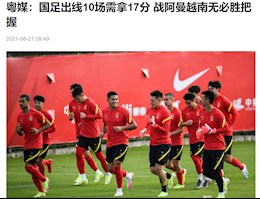 Chinese newspaper: Winning Vietnam right now is not easy