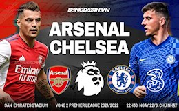 Live football Arsenal vs Chelsea at 22:30 on August 22 (Premier League 2021/22)