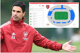 Tickets were sold but no one bought them, the Emirates Stadium had a record absence in the match against Chelsea