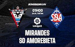 Nhận định Mirandes vs Amorebieta 1h00 ngày 24/8 (Hạng 2 Tây Ban Nha 2021/22)