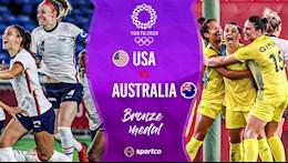 Trực tiếp bóng đá Nữ Australia vs Mỹ tranh hạng ba Olympic Tokyo 2020