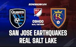 Nhận định San Jose Earthquakes vs Real Salt Lake 9h30 ngày 16/9 (Nhà nghề Mỹ 2021)