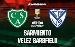 Nhận định bóng đá Sarmiento vs Velez Sarsfield 5h ngày 25/9 (VĐQG Argentina 2021/22)