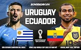 Nhận định, dự đoán Uruguay vs Ecuador 5h30 ngày 10/9 (Vòng loại World Cup 2022)