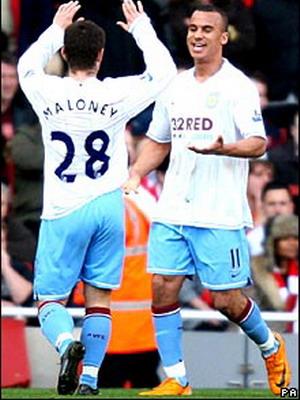 Các cầu thủ Aston Villa ăn mừng bàn thắng hình ảnh